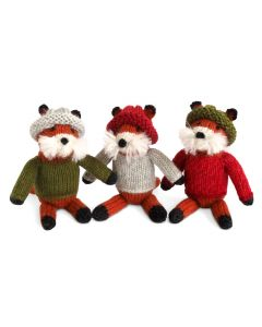 Set of 6 Crochet Fox Christmas Tree Ornaments