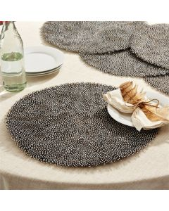 Set of 6 Guinea Fowl Feather Fall Placemats