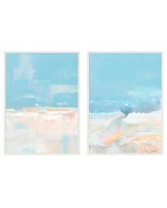 Set of Two California Coastline Framed Wall Art