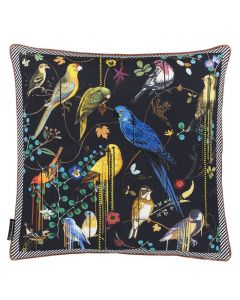 Set of Two Christian Lacroix Birds Sinfonia Crepuscule Cushion Decorative Square Throw Pillow by Designers Guild
