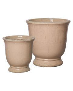 Set of Two Cup Design Garden Planters in Light Salmon - ON BACKORDER, CALL TO CONFIRM AVAILABILITY