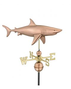 Polished Copper Shark Weathervane