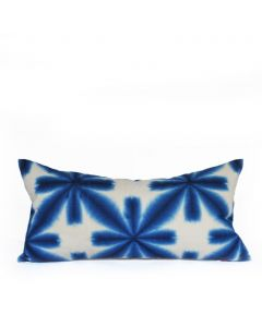 Shibori Blue & White Lumbar Pillow