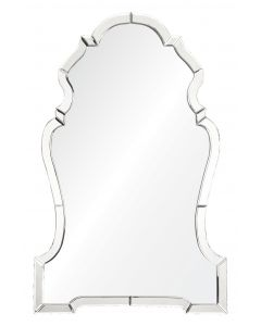 Silvered Mirrored Chippendale Wall Mirror