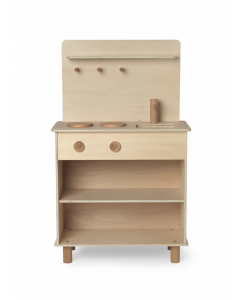 Simple Wooden Natural Play Kitchen for Kids - LOW STOCK