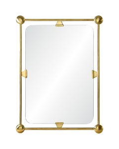 Celerie Kemble Burnished Brass Simplistic Retro Mirror
