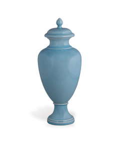 Sky Blue Glaze Porcelain Lidded Jar