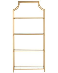 Sandra 4 Tier Gold Etagere - ON BACKORDER UNTIL LATE MARCH 2019