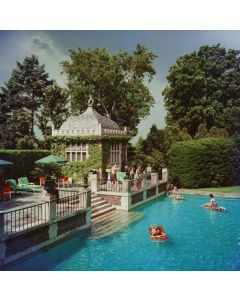 Slim Aarons 'Family Pool' Print by Getty Images Gallery - Variety of Sizes Available
