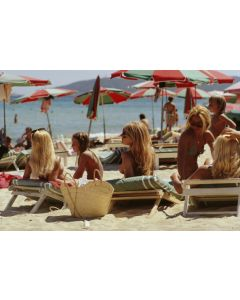 Slim Aarons 'Saint-Tropez Beach' Print by Getty Images Gallery - Variety of Sizes Available