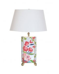Small Floral Chintz Lamp
