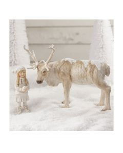Snow Day Play With Caribou Figurine Christmas Decoration - ON BACKORDER UNTIL JANUARY 2021
