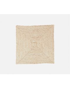 Square Raffia Placemats in Bleached, Set of 4 - ON BACKORDER UNTIL NOVEMBER 2019
