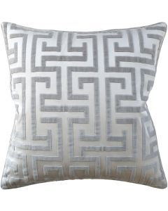 Geometric Velvet Grey Decorative Square Cotton Pillow – Available in Two Sizes