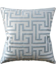 Geometric Velvet Robins Egg Decorative Square Cotton Pillow – Available in Two Sizes