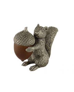 Vagabond House Squirrel with Wood Acorn Salt & Pepper Set