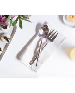 Stainless Steel 2-Piece Serving Set in Polished Silver Finish