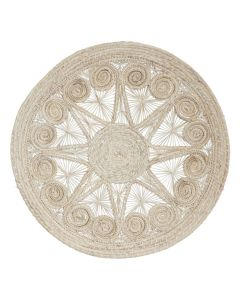 Stars and Spirals Round Wicker Placemats, Set of 4
