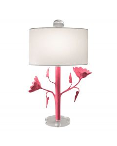 Handmade Poppy Bloom Paper Mache Table Lamp - Available in a Variety of Colors
