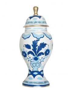 Hand Painted Sullivan in Blue Ginger Jar