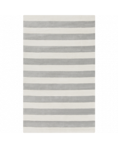 Cosmopolitan Rug in Gray and White - Available in a Variety of Sizes