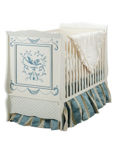 Swedish Gustavian Bluebird Crib