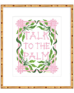 'Talk to the Palm' Pink and Green Art Print