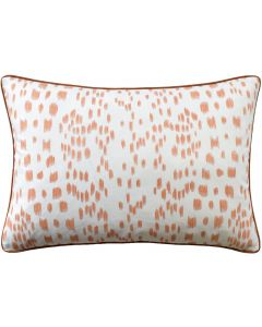 Tangerine Speckled Les Touches Square Cotton Decorative Pillow – Available in Three Sizes