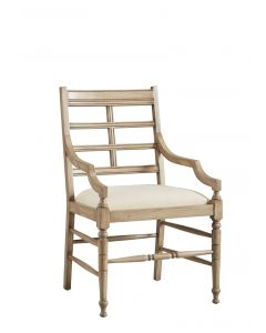 Taro Island Mahogany Occasional Chair with Linen Seat - ON BACKORDER UNTIL JUNE 2021
