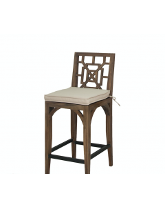 Trelliage Teak Patio Outdoor Barstool