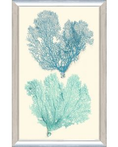 Teal & Aqua Sea Coral I Framed Wall Art-Available in a Variety of Sizes