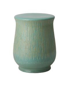 Teal Glazed Serrated Garden Stool