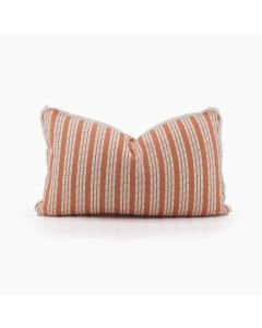 Tennessee Bamboo Stripe Lumbar Pillow in Sunset Orange