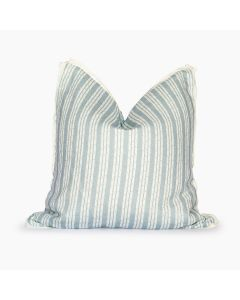 Tennessee Bamboo Stripe Square Pillow in Blue Smoke
