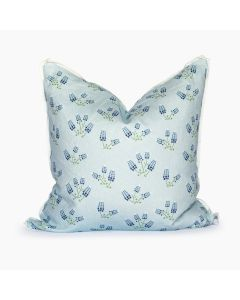 Texas Bluebonnets Powder Blue Square Pillow