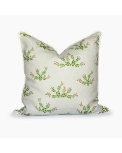 Texas Prickly Pear Cactus Grey Square Pillow