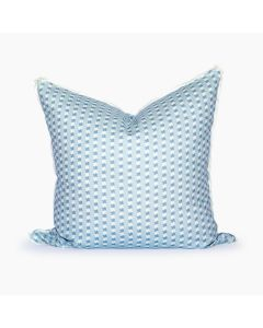 Texas Ticking Square Throw Pillow in Powder Blue