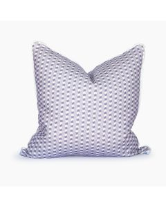 Texas Ticking Square Throw Pillow in Purple