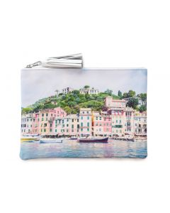Gray Malin 'The Portofino' Leather Zippered Pouch With Tassel