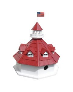 Thomas Point Shoal Lighthouse Birdhouse with Two Nest Boxes
