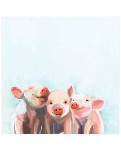 Three Little Pigs Canvas Wall Art for Kids
