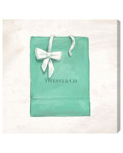Tiffany & Co. Shopping Bag With Bow Fashion Canvas Wall Art
