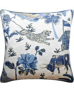 Animal Reserve Decorative Throw Pillow in Navy