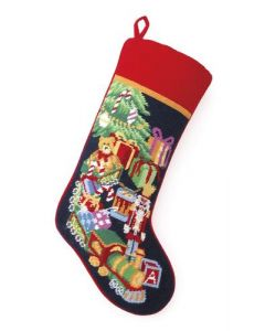 Toy Train Needlepoint Stocking - ON BACKORDER UNTIL JUNE 2019