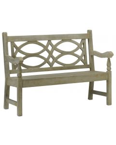 Traditional English Concrete Outdoor Bench in Portland Finish