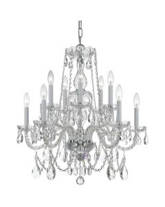 Traditional Swarovski Crystal 10 Light Chandelier
