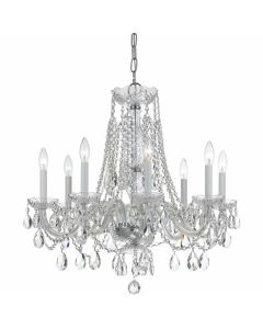 Traditional Swarovski Crystal 8 Light Chandelier