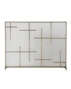 Arteriors Caleb Transitional Brass Plated Fire Screen