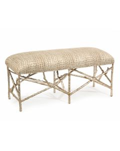Upholstered Silver Tree Branch Bench