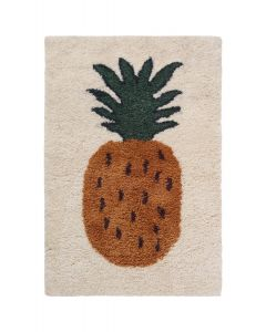 Tufted Pineapple Rug for Kids